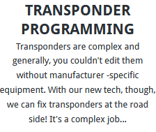Transponder Programming London